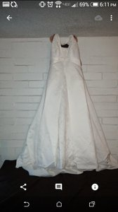David's Bridal Halter Style Wedding Dress
