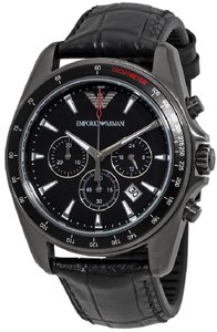 Emporio Armani Emporio Armani Sport Leather Chronograph Mens Watch AR6097
