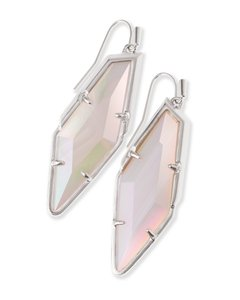 Kendra Scott Bexley Drop Earrings In Iridescent White Banded Agate