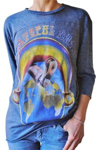 BDG Grateful Dead Vintage Raglan Tie Dye T Shirt Heather Navy Blue