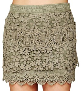 Free People Gucci Diesel Anthropology Mini Skirt Green