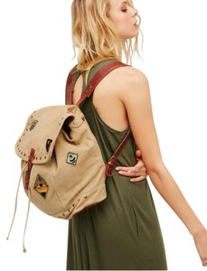 Free People Patches Leather Straps Backpack