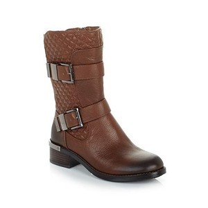 Vince Camuto Whiskey Tobacco Burnished Quilted Moto WHISKEY BROWN Boots