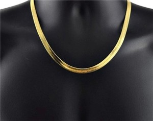 Other ** NWT ** 14K GOLD HERRINGBONE ( 5 MM ) NECKLACE / 20