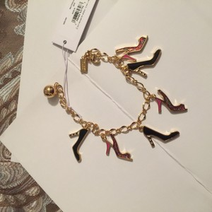 Kate Spade New Kate Spade Shoe In Charm Bracelet Multi Gold Glitter Pink & Black O0RU1681