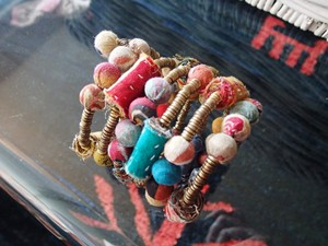 Other Recycled Indian fabric and brass beads