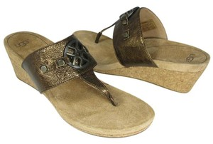 UGG Australia brown bronze Sandals