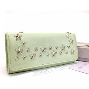 Jimmy Choo Nino Star Studded Patent Leather Wallet