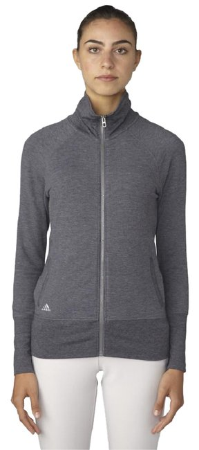 Item - Grey Full Zip Layering Activewear Outerwear Size 4 (S)