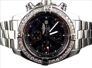 Breitling Custom A13370 Super Avenger XL 48MM Stainless Steel with Diamond