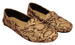 Com feite Animal 9-9.5 Moccasin Moccasin Snake print Black & White Flats