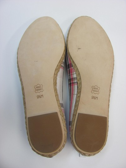 BP. Clothing Leather Soles Size 9.50 M Excellent Condition White, Brown, Red, Flats