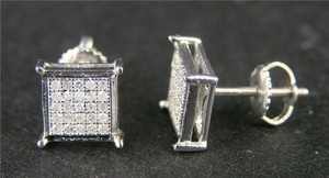 Other MEN N LADIES GOLD 7 MM DIAMOND STUD EARRINGS .75 C LOOK
