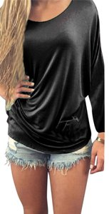 Other Womens Sexy Casual Comfy Top Black