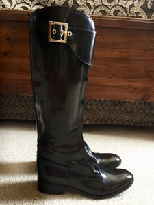 Tory Burch Patent Leather Dark Brown Boots