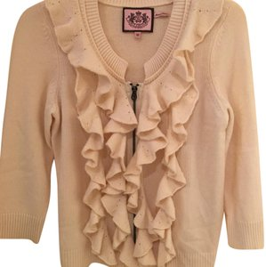Juicy Couture Cardigan Cream Wool Sweater