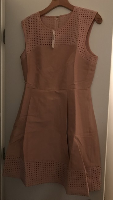 Item - Pink Perforated A M Sleeveless New Mid-length Work/Office Dress Size 8 (M)