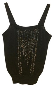 Louis Feraud Beaded Top Black