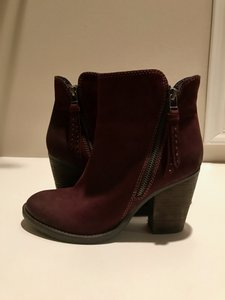 Steve Madden Ryatt Leather Burgundy Boots