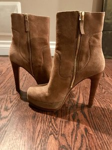 Nine West Suede Heeled Camel Boots