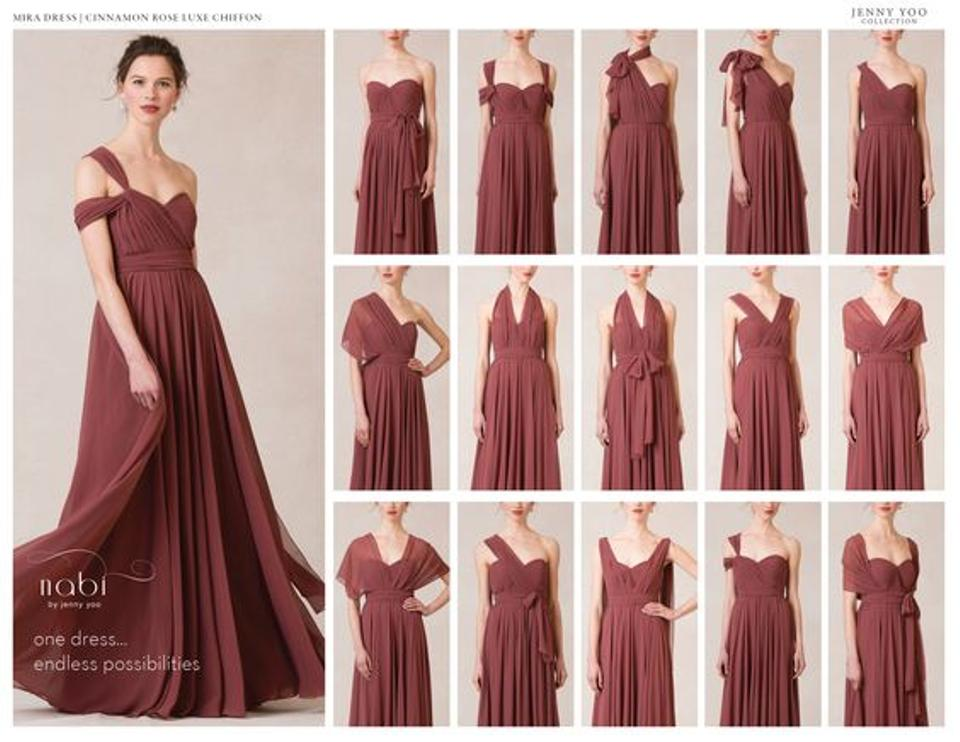 d3c3961b52a0 Jenny Yoo Cinnamon Rose Chiffon Mira Feminine Bridesmaid/Mob Dress ...