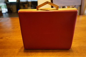 Evans Vintage Party Wedding Red Clutch