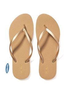 Old Navy Flip Flops Chancla COLOR: Gold Sandals