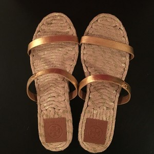 Tory Burch Metallic Gold Sandals