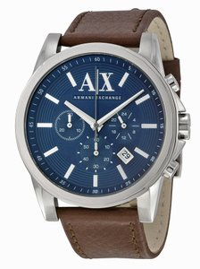 A|X Armani Exchange Armani Exchange Leather Chronograph Mens Watch AX2501