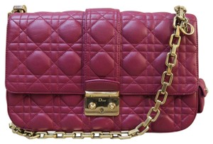 Dior Cannage New Lock Lambskin Shoulder Bag