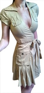 Diane von Furstenberg short dress Tan Brown Dvf Wrap Kitty Military Brown on Tradesy