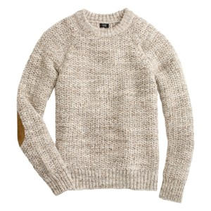 J.Crew Wool Blend Knit Elbow Patch Alpaca Sweater