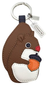Coach Coach Leather Squirrel Keychain Keyfob Key Ring NEW - LAST ONE!!