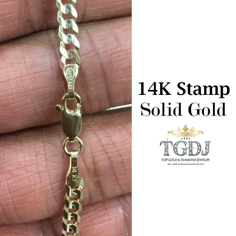Yellow 14k Solid 47mm Cuban Link Chain Men 26 Necklace