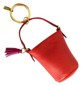 Coach COACH RED LEATHER MINI DUFFLE BAG PURSE KEYCHAIN KEYFOB WITH TAG