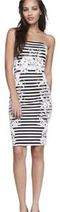 Express short dress black, white on Tradesy