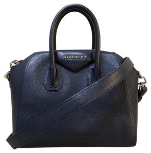 Givenchy Mini Antigona Black Satchel in navy blue