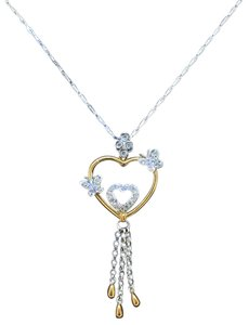 Other 18K White & Yellow Gold Diamonds Necklace