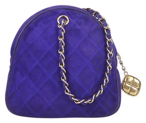 Chanel Clutch Handbag Chain Mini Classic Satchel in Purple