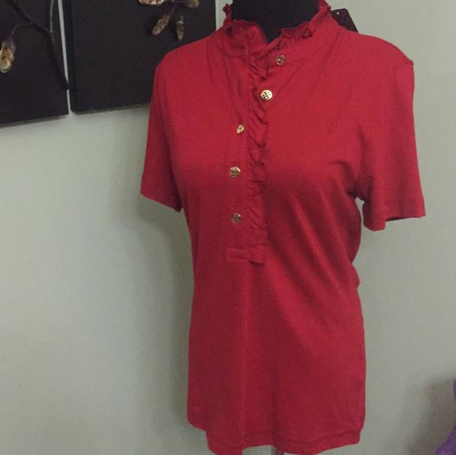 Item - Red Acai Lidia Polo Button-down Top Size 8 (M)