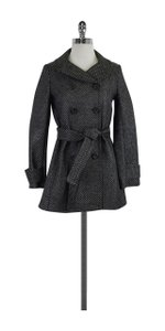 J.Crew Grey Black Metallic Brocade Coat