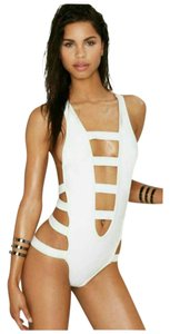 Nasty Gal Strapped Out Plunging Monokini