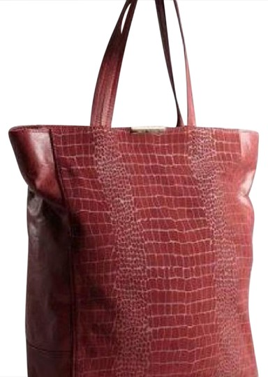 Preload https://img-static.tradesy.com/item/20742489/kelsi-dagger-kris-red-leather-and-suede-tote-0-1-540-540.jpg