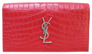 Saint Laurent Ysl Sac De Jour Clutch Satchel in red