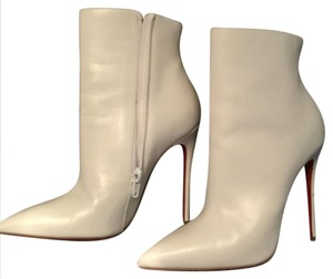Christian Louboutin Sexy Spike Heel Red Soles White Boots
