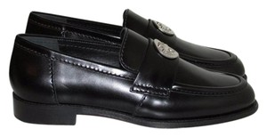 Chanel Black Leather Loafers Flats
