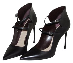 Dior Black Leather Buckle Pumps