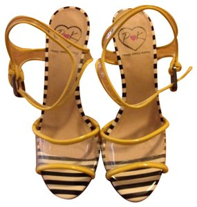 Penny Loves Kenny Yellow & Black Mules