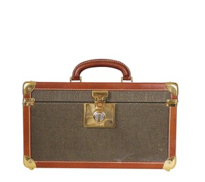Gucci Gg Trunk Trunk Train Case Beauty Box Brown Travel Bag