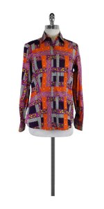 Etro Multi Color Print Cotton Shirt Button Down Shirt